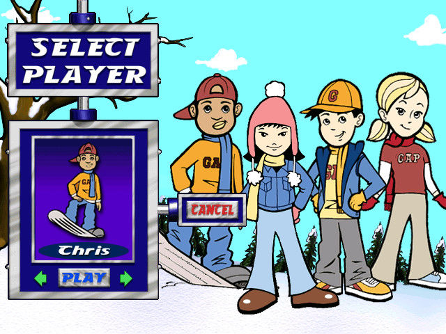 Snow Day: The GapKids Quest Windows Character selection