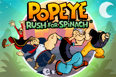 Popeye: Rush for Spinach Game Boy Advance Title screen.