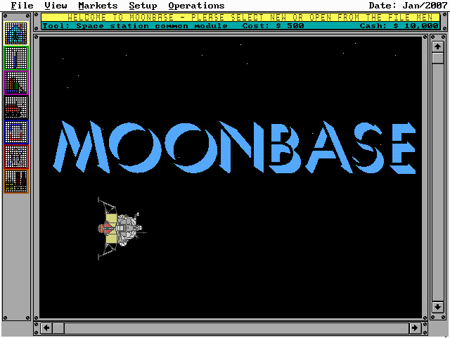Moonbase DOS Title Screen