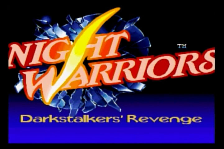 Night Warriors: Darkstalkers' Revenge SEGA Saturn Title screen