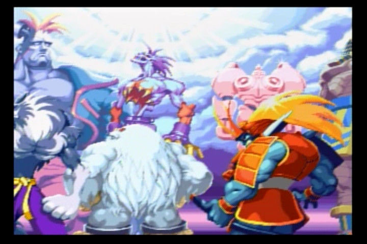 Night Warriors: Darkstalkers' Revenge SEGA Saturn A glimpse of the contenders during the intro