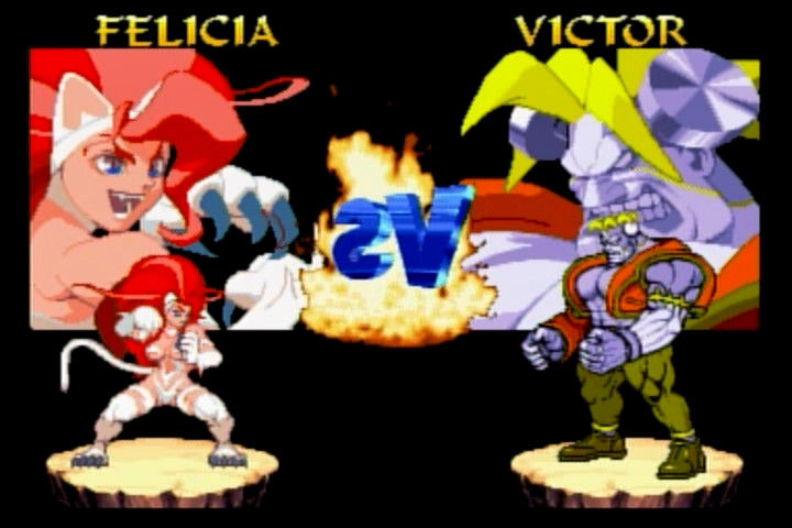 Night Warriors: Darkstalkers' Revenge SEGA Saturn The match-up