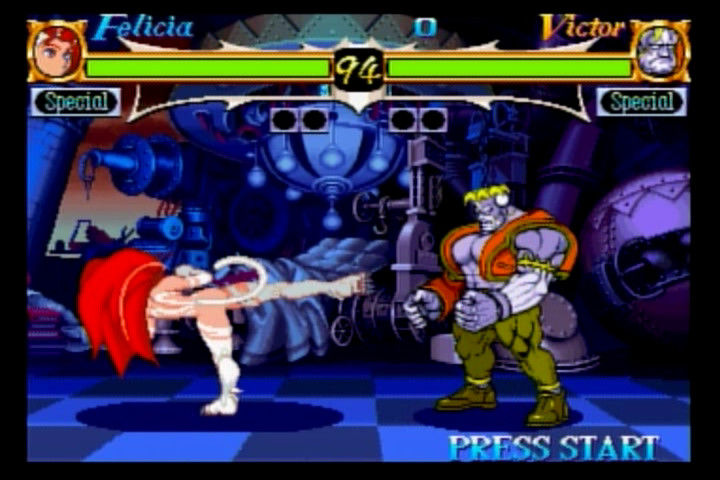 Night Warriors: Darkstalkers' Revenge SEGA Saturn Felicia vs. Victor