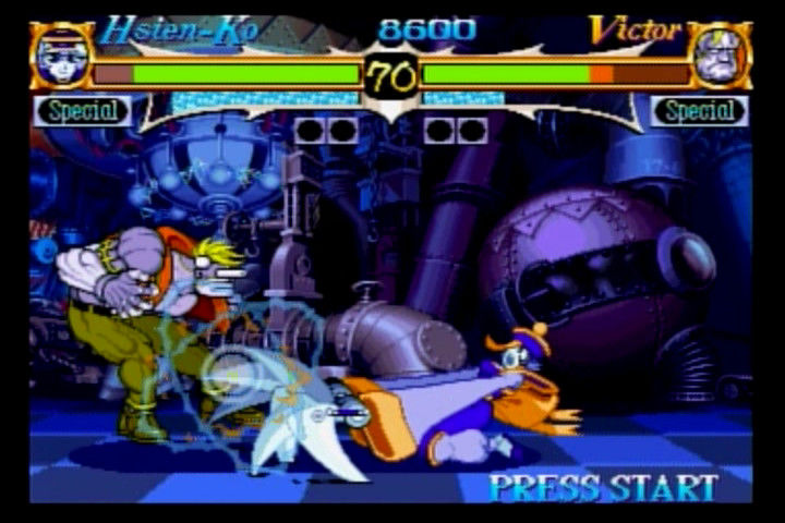 Night Warriors: Darkstalkers' Revenge SEGA Saturn Hsien-Ko vs. Victor