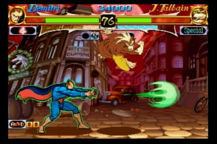 Night Warriors: Darkstalkers' Revenge SEGA Saturn Demitri vs. John Talbain