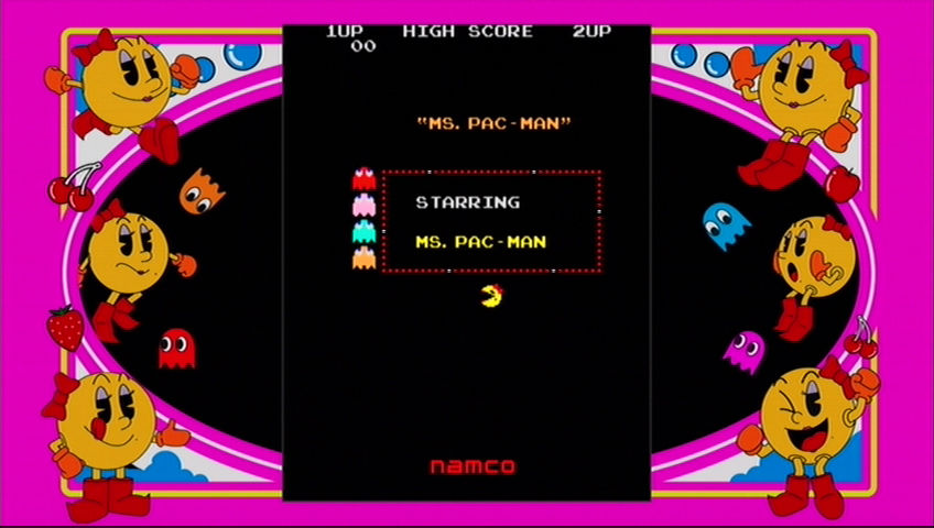 Ms. Pac-Man Xbox 360 Arcade game title screen