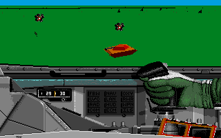 F-16 Combat Pilot Amiga Attacking an enemy tank battalion.