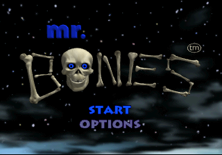 Mr. Bones SEGA Saturn The title screen.