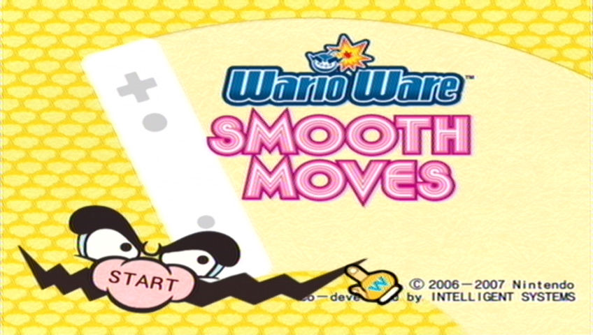 WarioWare: Smooth Moves Wii Title screen
