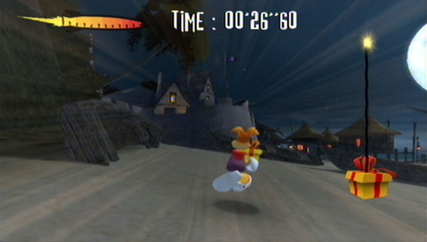 Rayman Raving Rabbids Wii Run to the finish line quickly!