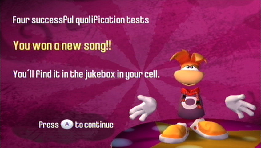 Rayman Raving Rabbids Wii Successfully completing all the challenges gives you bonuses.