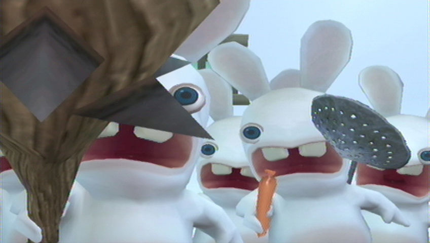 Rayman Raving Rabbids Wii The Rabbids attack!