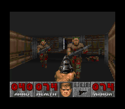 DOOM SNES Getting cornered by former humans