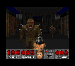 DOOM SNES You don't generally want to get this close to an imp.