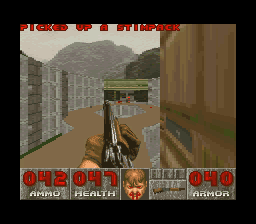 DOOM SNES Going for the distance shot