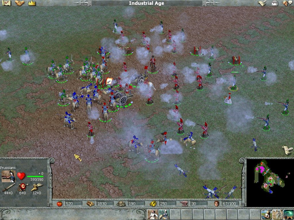Empire Earth Windows ...gunpowder smoke over a battlefield in the industrial era...