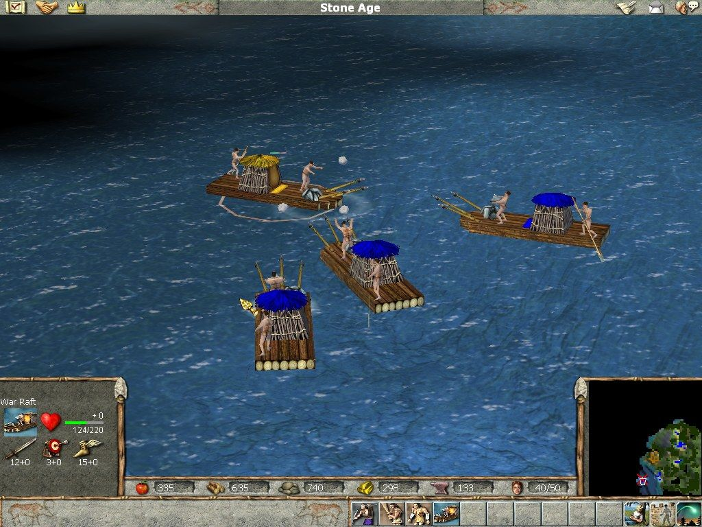 Empire Earth Windows The development of marine warfare: from early rafts...