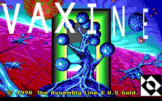 Vaxine DOS Title screen (EGA)