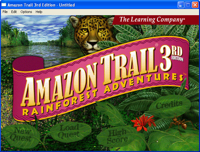 Amazon Trail 3rd Edition Windows Title screen