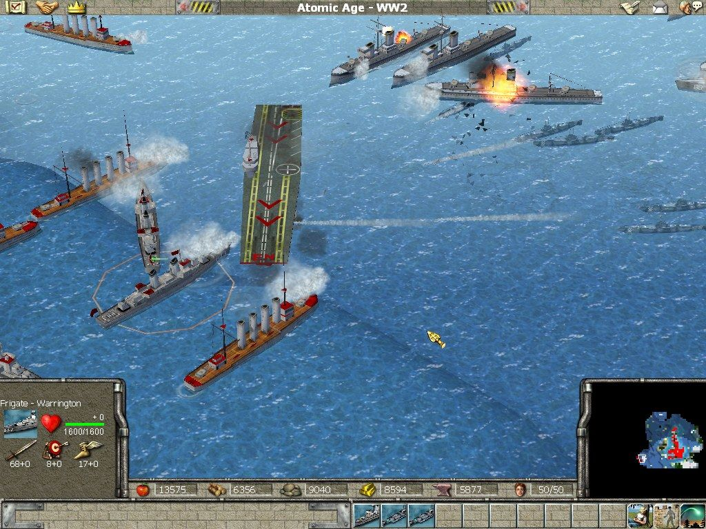 Empire Earth Windows ...to full-fledged battleship warfare.