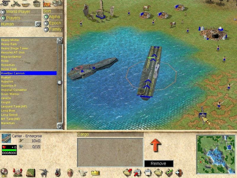 Empire Earth Windows The scenario editor lets you create your own maps and missions.
