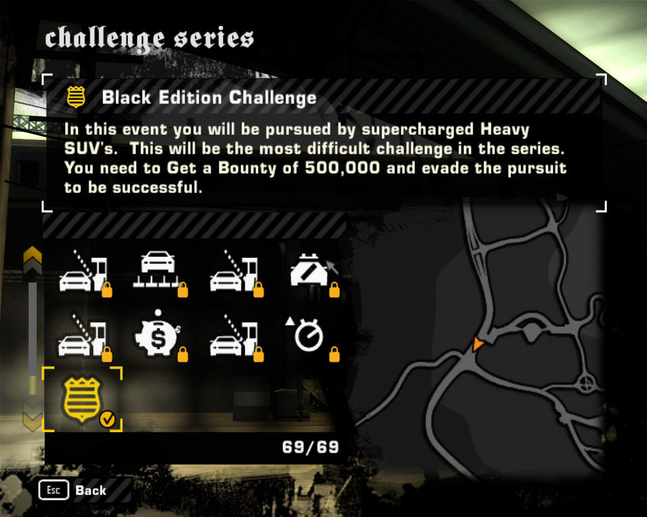 Need for Speed: Most Wanted (Black Edition) Windows The new Black Ed. Challenge... quite frankly it's a piece of cake.