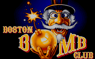 Boston Bomb Club DOS Title screen (VGA)