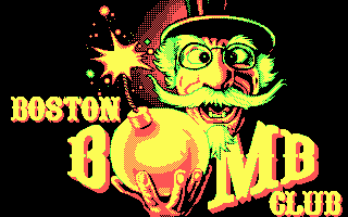 Boston Bomb Club DOS Title screen (CGA)