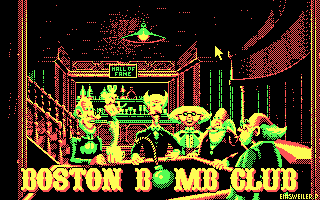 Boston Bomb Club DOS Main menu (CGA)