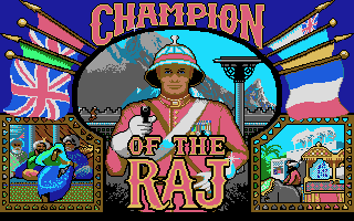 Champion of the Raj DOS Title screen (VGA)