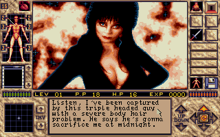 Elvira II: The Jaws of Cerberus DOS Mystical contact from our damsel in distress