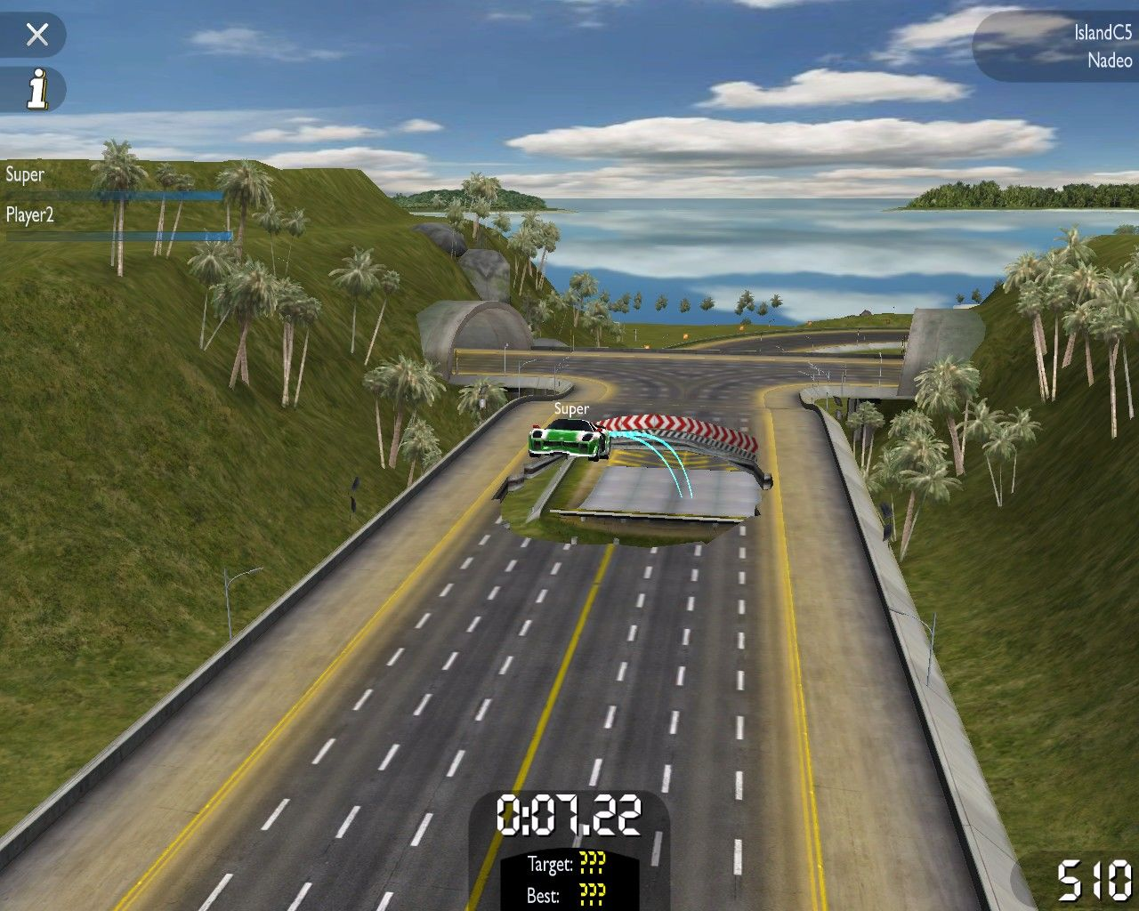 TrackMania United Windows Island environment