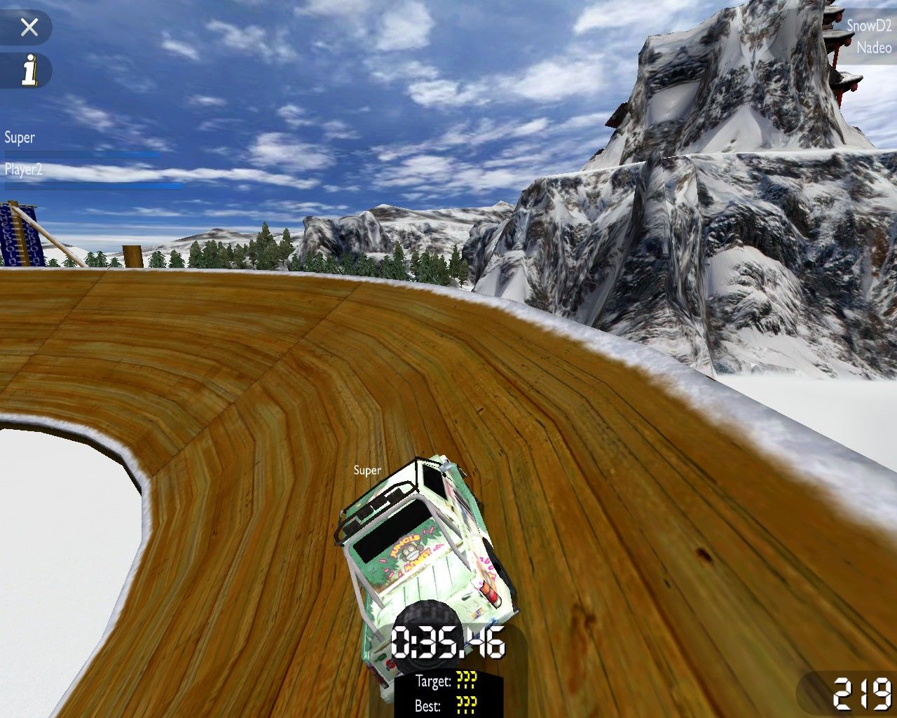 TrackMania United Windows Snow environment