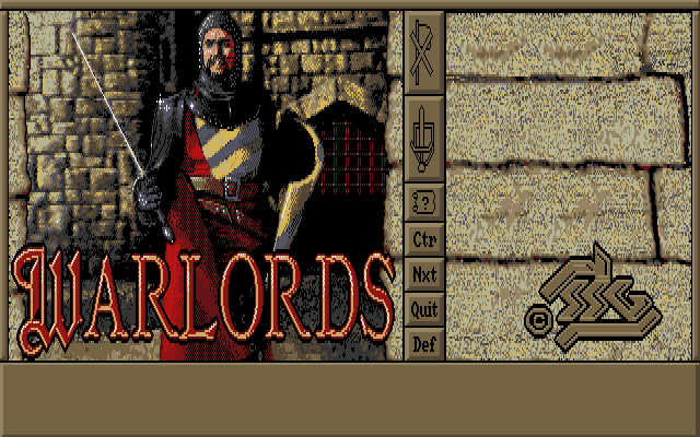 Warlords DOS Title screen