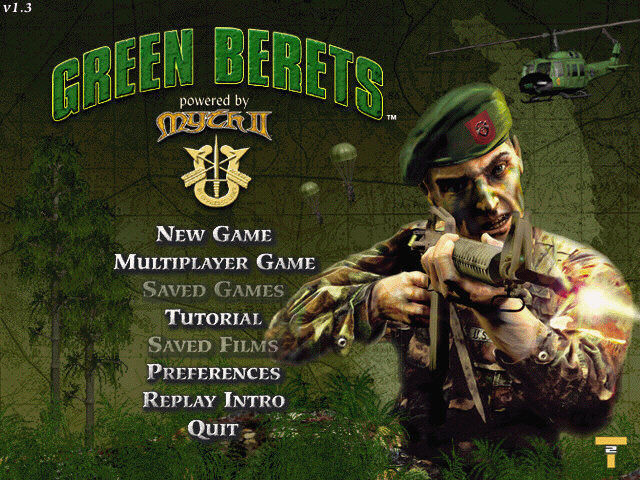 Green Berets Windows Main Menu