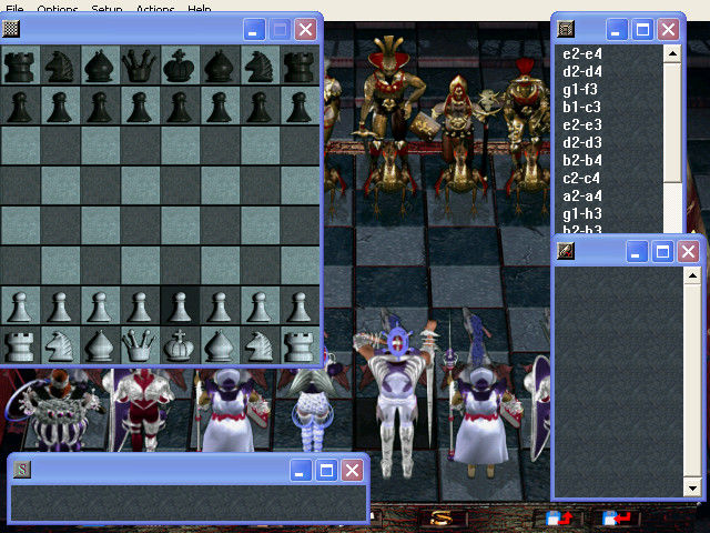 Combat Chess Windows The main board, with a bunch of support windows