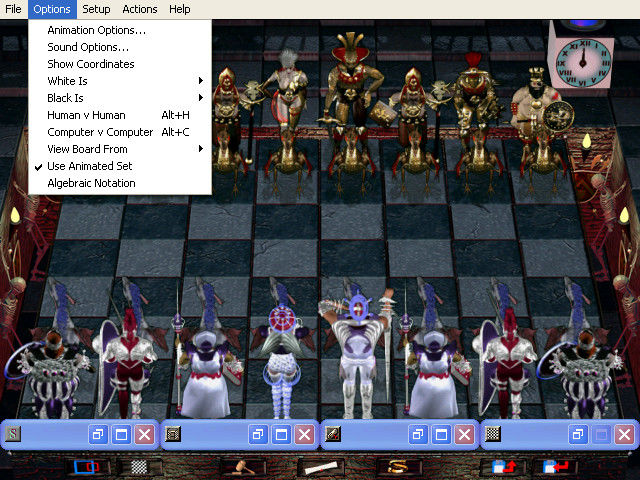 Combat Chess Windows Options menu