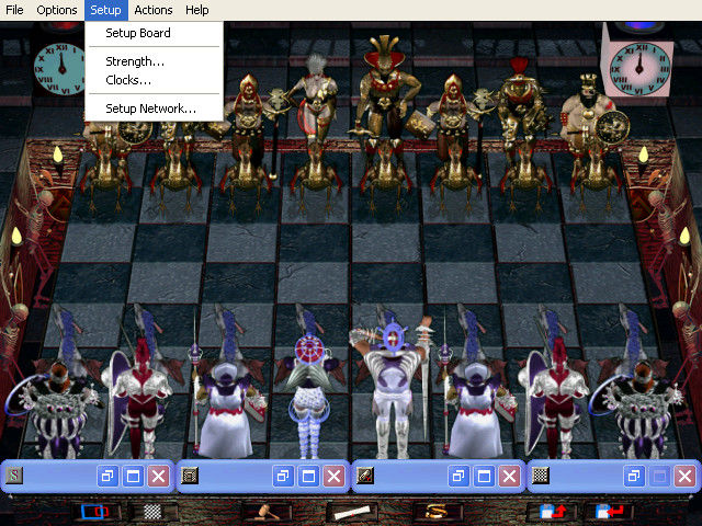 Combat Chess Windows Setup menu