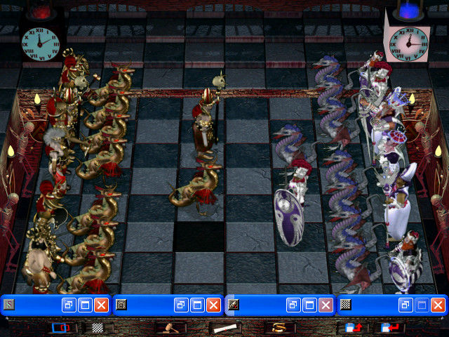 "Combat Chess Windows The board with the ""east"" view"
