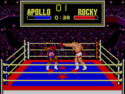 Rocky SEGA Master System Apollo Being Hit - Rocky With Different Trunks!!