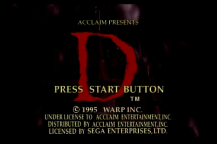 D SEGA Saturn Title screen