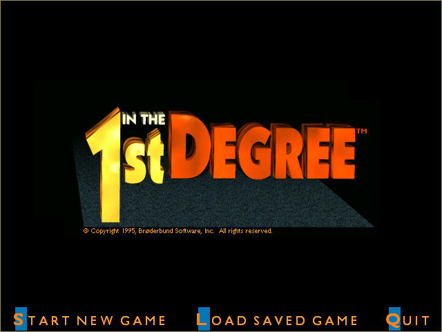 In the 1st Degree Windows 3.x Title screen and main menu