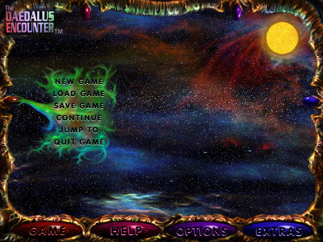 The Daedalus Encounter Windows 3.x Main menu