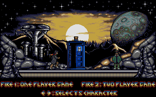 Dalek Attack DOS Player selection