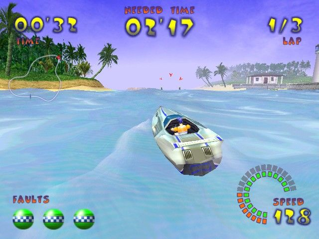 Jetboat Superchamps 2 Windows The game's graphics are pretty and there are nice details...