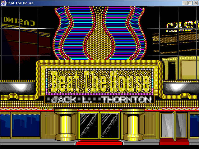 Beat the House Windows 3.x Title screen