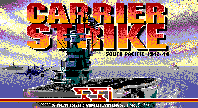 Carrier Strike: South Pacific 1942-44 DOS Title screen