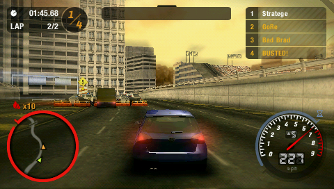 need for speed most wanted  full version free psp