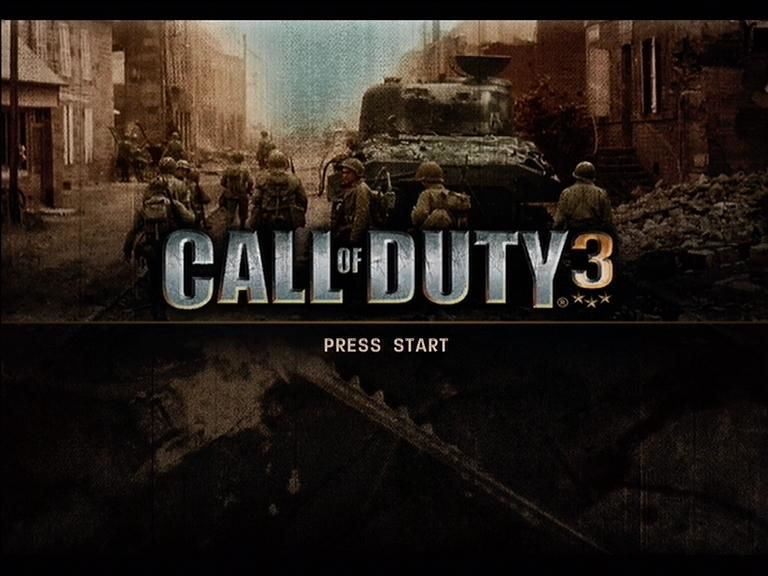 Call of Duty 3 Xbox 360 Call Of Duty 3 title screen