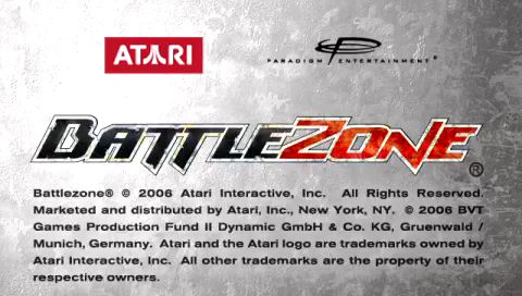 BattleZone PSP Title screen